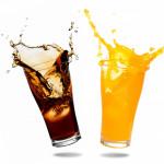 Soft drinks splashing