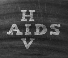 HIV and AIDS written in chalk