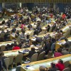 The U.N. General Assembly Hall during the High-level Meeting on HIV/AIDS.