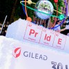 Gilead's float in the Seattle LGBT pride parade, June 2017