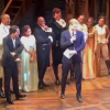 The Duke of Sussex (Prince Harry) and the cast of Hamilton in London's West End