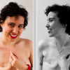 Two photos from my shoot with Jessica Leigh. Breast cancer is not a pretty pink disease, but you can still feel pretty and beautiful after being mutilated, poisoned and burnt.