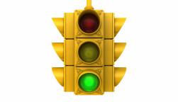 Traffic light with green light illuminated