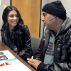 Carlos Rivera (right) initially faced problems receiving treatment for his colon cancer until getting insurance under the guidance of Ziomara Tirado at the Hope Family Health Center, a nonprofit clinic in McAllen, Texas.