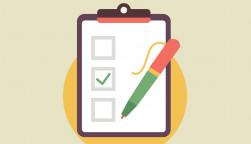 illustration clipboard and pen check mark