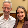 AIDS activist Peter Staley and U.S. Representative Alexandria Ocasio-Cortez